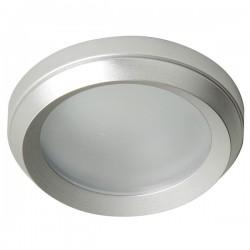 Empotrable Aluminium brillo redondo