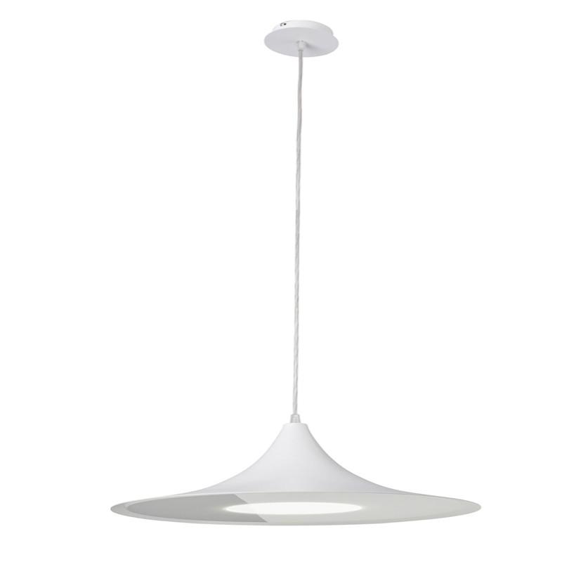 fb5f3e9ea5d Lámpara Led colgante 20W con luz neutra Bell Lux blanca