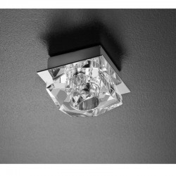 LUMINARIA DE SUPERFICIE 70mm DIAMANT ELECTRA CROMO