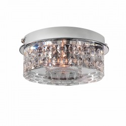 LUMINARIA DE SUPERFICIE 35mm DIAMANT ROLLING CROMO