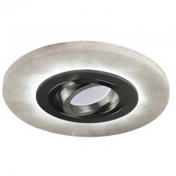 Alabaster Recessed LED Light - black (2,4W)