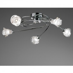 Lis 5 Arm Ceiling Light – Chrome