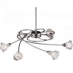 Lis 6 Arm Pendant Light – Nickel
