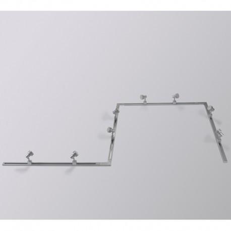 Conector Riel escuadra gris Masta