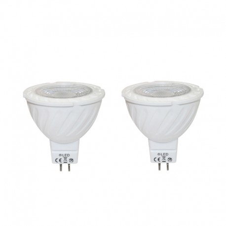 Pack x2 Bombillas LED MR16 7W 3000K
