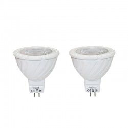 Pack x2 MR16 LED SMD 5W 3000K