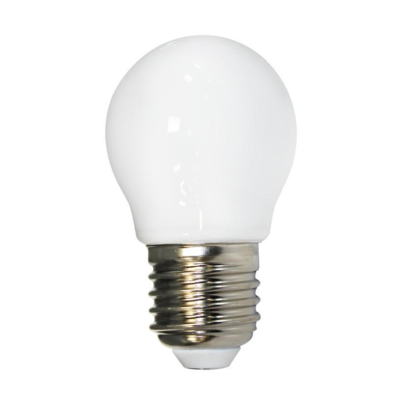 Bombilla led e27 milky 4 5w 3000k cristalrecord - Bombilla led 5w ...