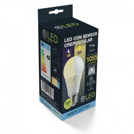 BOMBILLA LED E27 11W 4000ºK Sensor crepuscular