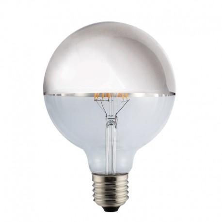 Bombilla LED Half Mirror G125 plata 8w