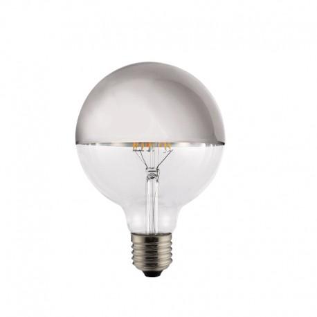 Bombilla LED Half Mirror G95 plata 8w