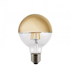 Bombilla LED Half Mirror G95 oro 6w