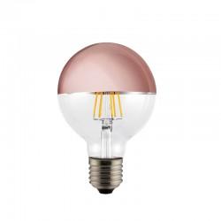 E27 Light Bulb G95 6W 2700K Half Mirror Copper