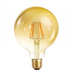 E27 G125 8W 800LM 2700K Globe Gold Dimmable