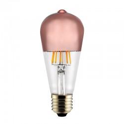 Bombilla LED E27 ST64 Half Mirror bronce 6w
