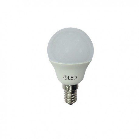 Pack 2 bombillas esféricas LED CR1, E14, 6 W, 2700 K, 470 Lm.