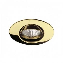 Empotrable zar ovalado basculante de aluminio acabado en oro satinado.