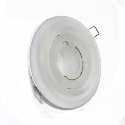 White Staggered Glass Tilting Recessed Light