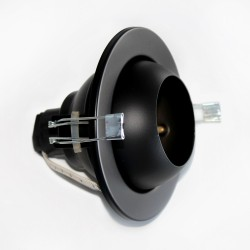 Empotrable bola R-50 negro