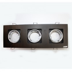 50W Odin Wengué 3-Light Recessed