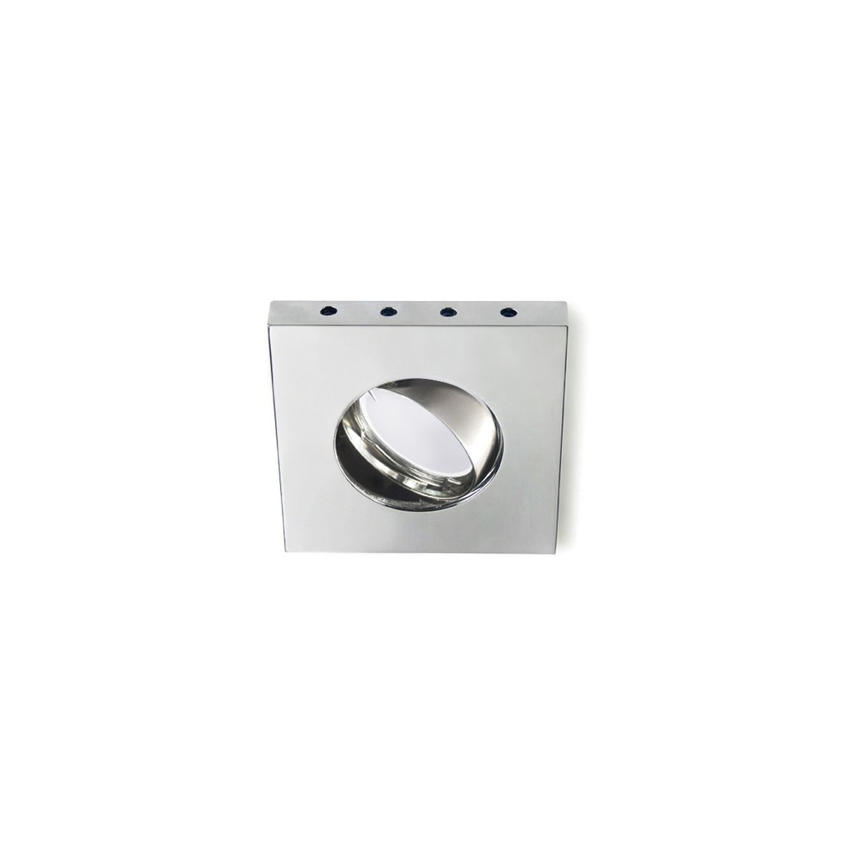 Empotrable LED de 0,5W cuadrado basculante Horus cromo