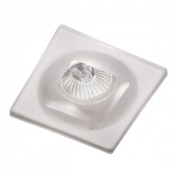Duna White Fixed Square Recessed Light
