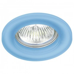 Blue Glass Round Fixed Recessed Light