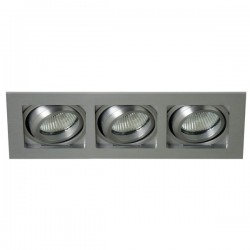 Lucer Silver Three-light Tilting Recessed Light