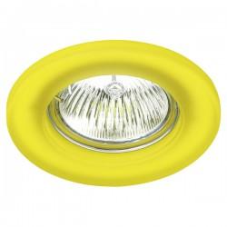 Empotrable fijo redondo cristal amarillo