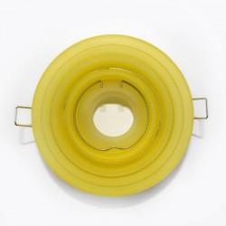 Empotrable basculante redondo escalonado cristal amarillo