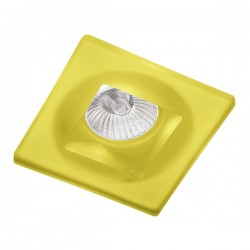 Yellow Glass Fixed Recessed Light