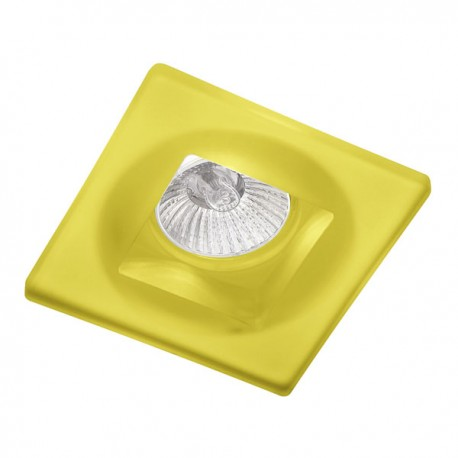 Empotrable fijo cuadrado cristal amarillo