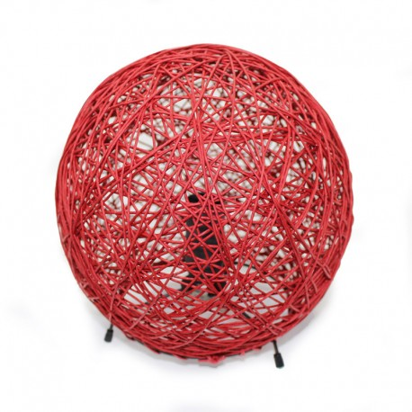 Lámpara sobremesa esférica Alexandra roja