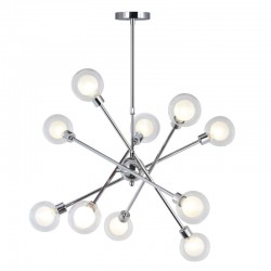 GLOBE LAMP 10 LIGHTS CHROME