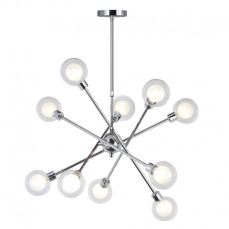 Lámpara Globo 10 luces cromo