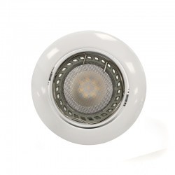 LED Recessed Light GU10 6W Round Tilting White