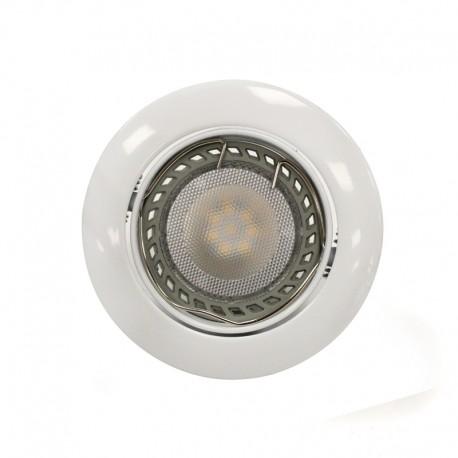 Empotrable LED GU10 6W redondo basculante blanco