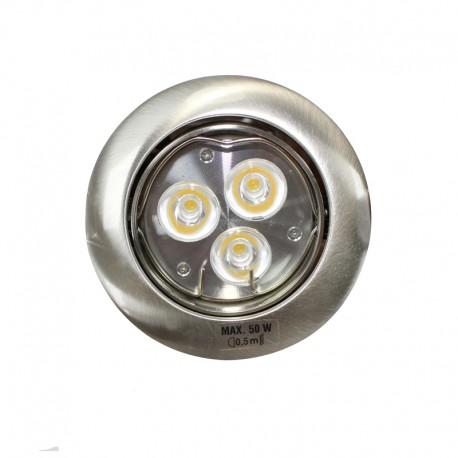 Empotrable LED GU10 6W redondo basculante plata