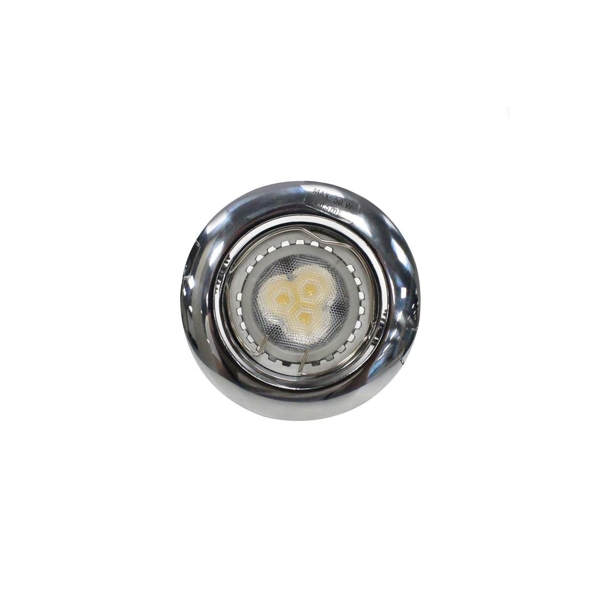 Empotrable LED GU10 7W redondo basculante cromo