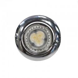 Chrome LED Recessed Light GU10 7W Round Tilting