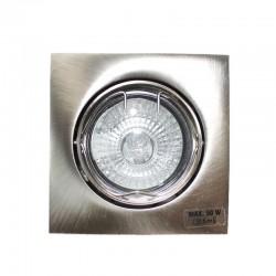 Empotrable GU10 50W cuadrado basculante níquel