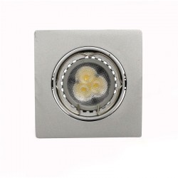 Empotrable LED GU10 6W cuadrado basculante acero