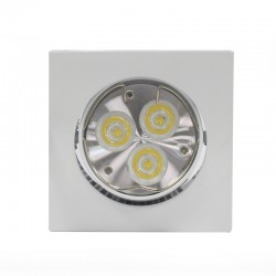 LED Recessed Light GU10 6W Square Tilting White