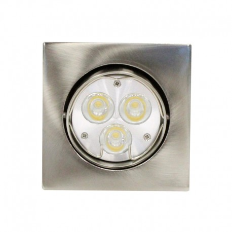 Empotrable LED GU10 6W cuadrado basculante níquel