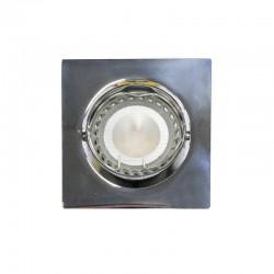 Empotrable LED GU10 6W cuadrado basculante cromo