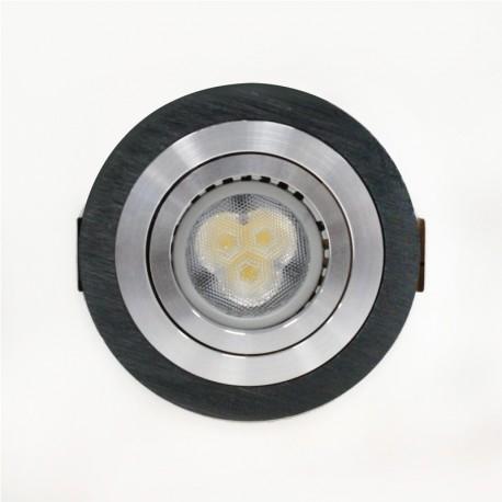 Empotrable LED GU10 7W redondo basculante negro