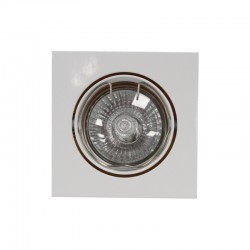 Empotrable GU10 50W cuadrado basculante blanco