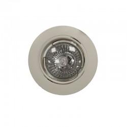 Empotrable GU10 50W redondo basculante blanco