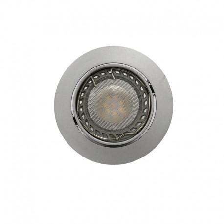 Empotrable LED GU10 6W redondo basculante acero