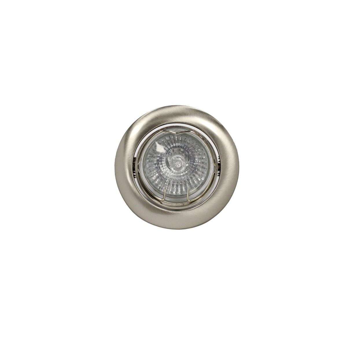 Empotrable GU10 50W redondo basculante niquel