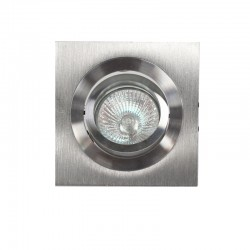 Empotrable GU10 50W cuadrado basculante aluminio